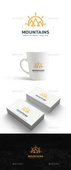 #Mountains #Logo - #Nature Logo Templates