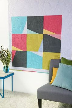 Quilts My Way: Modern Patchwork Winter 2016 Love big color on the wall!