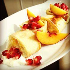 peach ricotta blintz