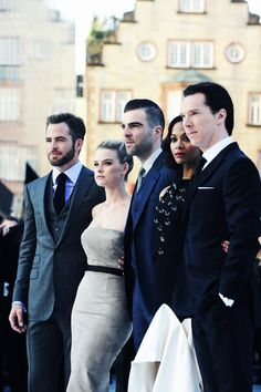 Star Trek cast  at the Tokyo premiere. They are a gorgeous group of people