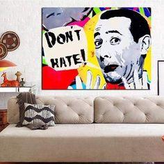 Toile Pop Art Pop Art Don't Hate Arte Banksy, Banksy Art, Graffiti, Living Room Pictures, Wall Art Pictures, Art Pop, Canvas Poster, Poster Wall, Art Pas Cher