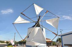 Um moinho de vento