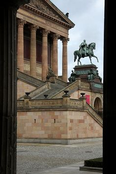 Entrance Old National Gallery Berlin Photograph - Entrance Old National Gallery Berlin Fine Art Print - Christiane Schulze