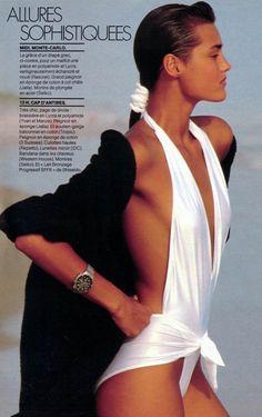 Yasmin Le Bon by Gilles Bensimon for Elle France, 1985