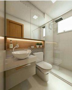 Bathroom Wall Decor, Bathroom Layout, Small Bathroom, Bathroom Sinks, Bathroom Storage, Bathroom Ideas, Cozy Bathroom, Bathroom Showers, Bathroom Makeovers