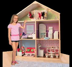"""My  Girl's 18"""" dollhouse dollie and me fits American Girl and all 18"""" dolls"""