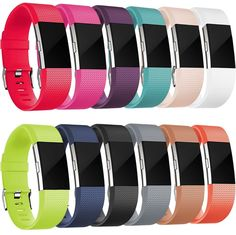12 Pack Fitbit Charge 2 Band Small Silicon Replacement Wristband Special Edition #Maledan