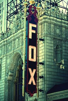 my favorite theatre ever. <3 The Fabulous Fox STL