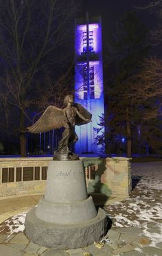Angel Of Hope And Thomas Rees Memorial Carillon At Washington Park Springfield Illinois