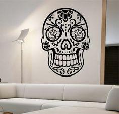 Sugar Skull Wall Decal Vinyl Sticker Art Decor Bedroom Design Mural Interior Design Sugar Skull Living