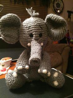 Elephant - Crochet creation by Sharon