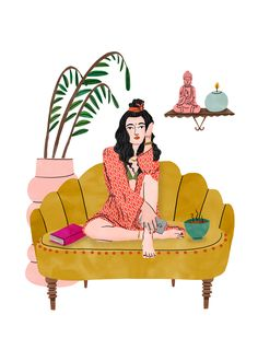 Bodil Jane | Folio illustration agency | https://folioart.co.uk/bodil-jane | #watercolour #illustration #boho #interior
