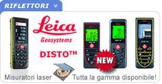 La gamma completa dei misuratori Leica DISTO, distanziometri laser per interni e, per i modelli dotati di mirino digitale, anche per esterni