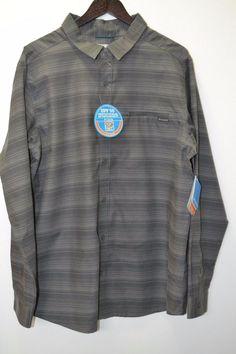NWT Men's Columbia Curtis Creek Plaid Omni Gray/Shades Long Sleeve Shirt Size XL…