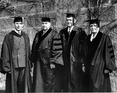 Alwin C Ernst (far right) receives an honorary degree in 1940 from Kenyon College. #EY