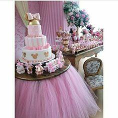 Pink stripe cake