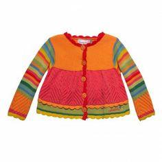 Cardigan tricot Abricot Catimini, 12M, Cardigans, pulls, vestes NAISSANCE FILLE
