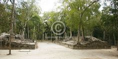 Calakmul Ball Court, Campeche, Mexico