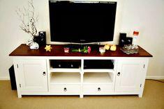 Diy Furniture Hacks, Tv Furniture, Upcycled Furniture, Furniture Makeover, Painted Furniture, Tv Stand Room Divider, Tv Stand Plans, Swivel Tv Stand, Diy Tv Stand