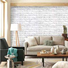 Grey Brick Wallpaper Kitchen, Faux Brick Wallpaper, Brick Material, Beauty Room Decor, Cleaning Walls, Grey Kitchens, Peel And Stick Wallpaper, Robin, Walmart