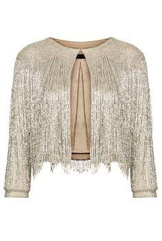 Beaded Fringe Jacket by Kate Moss - Pretty
