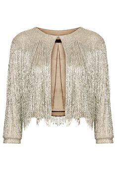 **Beaded Fringe Jacket by Kate Moss for Topshop
