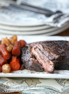 So moist and delicious! Red Wine Braised Brisket - Healthy Beef Recipe - Low Fat, Low Calorie