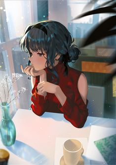 Training anime scenery Ideas for 2019 Fan Art Anime, Anime Artwork, Anime Art Girl, Manga Girl, Anime Girls, Thicc Anime, Anime Demon, Sad Anime, Black Hair Anime Girl