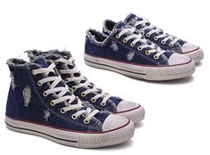 Converse presents two special Chuck Taylor All Star 'Denim Distressed' sneakers. The sneaker comes both in a low top and a high top version, with the distressed denim upper matching a vintage infused outer sole. These Made in Italy…