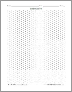 Isometric Dots Graph Paper   Free To Print