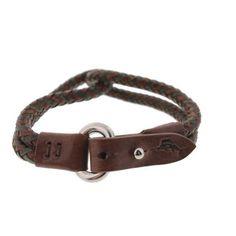 Tommy Bahama Mens Leather Braided Bracelet