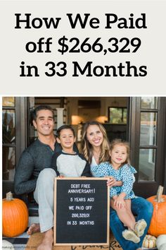 Here's How We Paid off $266,329.01 in 33 Months. This is our debt pay off story and how we're now debt free living. #debtpayoff #debt #payoffdebt Mortgage Amortization, Budgeting Finances, Budgeting Tips, Money Tips, Money Saving Tips, Total Money Makeover, Money Saving Challenge, Mortgage Payment