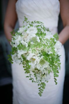 Baby Fern and White Flower Bouquet   photography by http://aldersphotography.com/