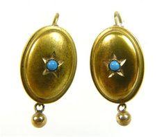 Zlaté Náušnice Biedermeier | eAntik - Starožitnosti