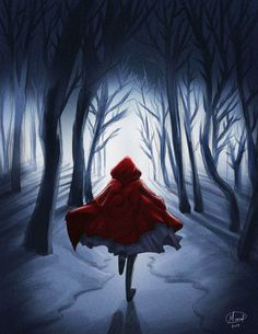 Running Away  (red riding hood) by manalsh88.deviantart.com on @DeviantArt