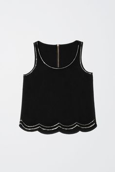 Black Glitter Top From H