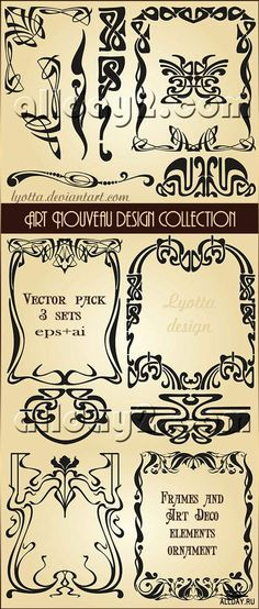 Art Nouveau design collection