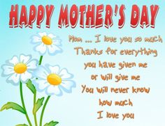 Mom's Day! on Pinterest | Mom Day, Happy Mothers Day and Mother's Day
