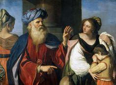Авраам, изгоняющий Агарь с Измаилом из своего дома. Гверчино (Джованни Франческо Барбьери)