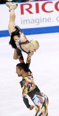 Aliona Savchenko and Robin Szolkowy of Germany strike gold again