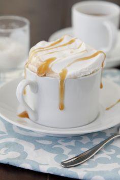 Boozy Salted Caramel Mocha (silk chocolate soymilk, espresso, salt, caramel flavored syrup, bailey's irish creme, whipped cream, sea salt for garnish)