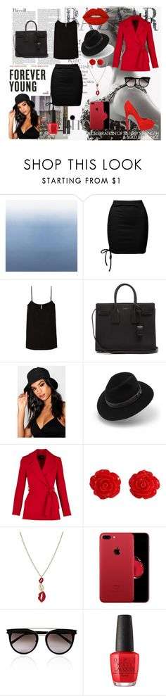 """""""Red&Black"""" by isco-dvii ❤ liked on Polyvore featuring beauty, Sans Souci, Yves Saint Laurent, Boohoo, Hermès, Collectif, Thalia Sodi, Calvin Klein, OPI and Arbonne"""