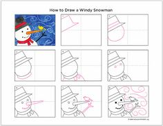 Art Projects for Kids: How to Draw a Windy Snowman