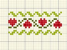 Xmas Cross Stitch, Cross Stitch Heart, Simple Cross Stitch, Cross Stitch Borders, Cross Stitch Designs, Cross Stitching, Cross Stitch Embroidery, Cross Stitch Patterns, Fair Isle Knitting Patterns