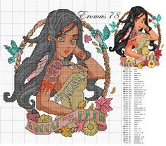 principesse disney pin up - Blog di Eromas Not that I can really cross stitch but hey maybe someday!