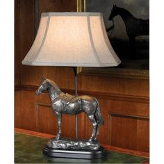 English Riding Horse Lamp  | ScullyandScully.com