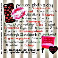 february Photo A Day inspiration.  come join us!  facebook.com/photo366