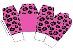 Pink leopard - Full Kit with frames for invitations, labels for goodies, souvenirs and pictures! | Making Our Party