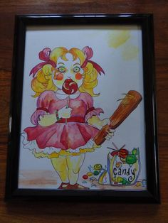 Mommy's Little Angel 9x11 painting in it's frame