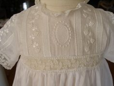 Yoke. Swiss batiste baby day gown. Completely handmade by this amazing seamstress.